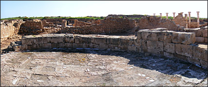 The Proconsul's Audience Chamber at the World Heritage Site in Paphos